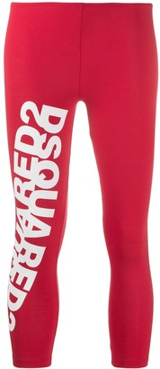 DSQUARED2 Mirrored Logo Cropped Leggings