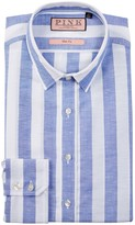 Thomas Pink Sutherland Slim Fit Stripe Dress Shirt
