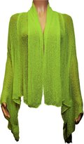 Ikat Ladies Crochet Lace Fish Net Medium Length Maternity Waterfall Cardigan