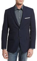 Brioni Seersucker Two-Button Sport Coat, Navy