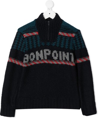 Bonpoint Logo Embroidered Jumper