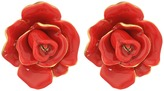 Oscar de la Renta Rosette Button C Earrings Earring