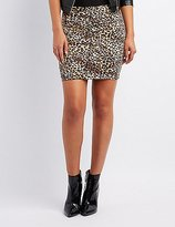 Charlotte Russe Leopard Bodycon Mini Skirt