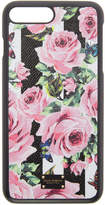 Dolce & Gabbana Black Stripes and Flowers iPhone 7 Plus Case