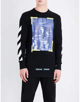Off-White Caravaggio-print cotton-jersey T-shirt