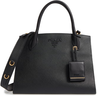 Prada Large Monochrome Saffiano Leather Satchel