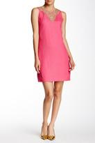 Eliza J Embellished Linen Blend Shift Dress