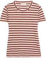 Madewell Garrett Metallic Striped Jersey T-shirt - Red