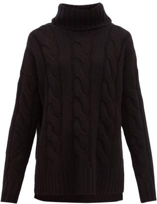 Nili Lotan Brynne Roll-neck Cable-knit Cashmere Sweater - Womens - Black