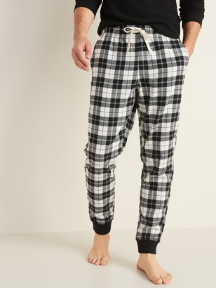 Old Navy Patterned Flannel Pajama Joggers for Men