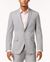 Bar III Men's Slim-Fit Light Gray Plaid Suit Jacket, Only at Macy's