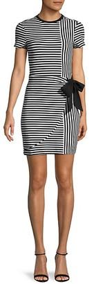 Parker Striped Short-Sleeve Mini Dress