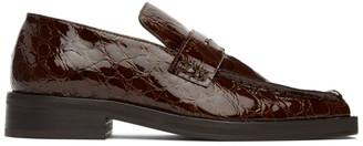 Martine Rose Brown Croc Roxy Loafers