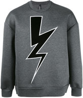 Neil Barrett lightning sweatshirt - men - Polyurethane/Viscose - S
