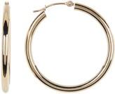 Candela 10K Gold Polished Hoop Earrings