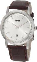 HUGO BOSS Mens Ultra Slim Quartz Watch Brown 1512636