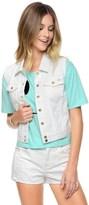Juicy Couture Laser Cut Denim Vest