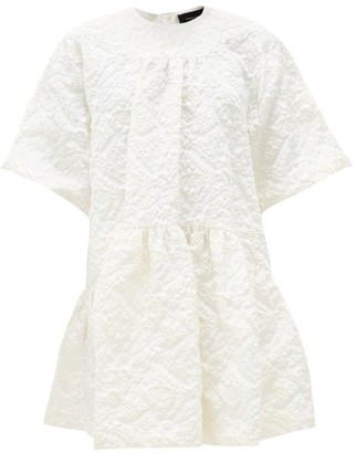 Simone Rocha Gathered Floral-cloque Dress - Ivory