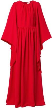Ingie Paris Draped Caftan Maxi Dress