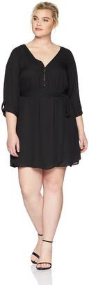 City Chic Women's Apparel Women's Plus Size Tunic Zip Trim