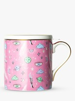 t2 Sleep Tight Infuser Mug With Lid, 350ml, Pink/Multi