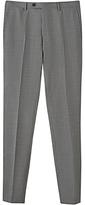 Jigsaw Bloomsbury Italian Super 120s Wool Slim Fit Trousers, Grey Melange