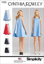Simplicity Patterns 1105 Misses' Dresses Cynthia Rowley Collection