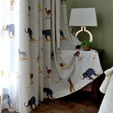 "Melodieux Lovely Zoo Animals Light Filtering Grommet Top Curtains/Drapes for Kids Room, 52""Wx96""L (1 Panel)"