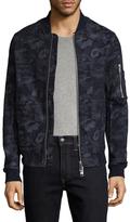 Armani Exchange Camouflage Print Bomber Jacket
