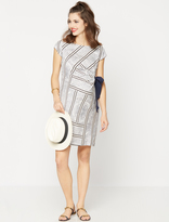 A Pea in the Pod Side Tie Maternity Dress