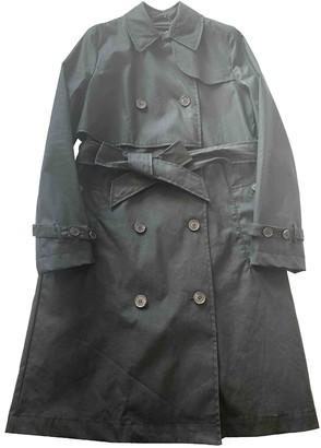 AllSaints Black Cotton Trench Coat for Women
