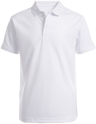 Nautica Short Sleeve Husky Performance Polo Uniform Shirt