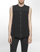 Calvin Klein Sleeveless Pleat Back Top