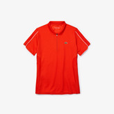 Lacoste Women's SPORT Breathable Zip-Up Polo Shirt
