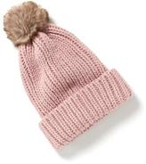 Old Navy Sweater-Knit Pom-Pom Beanie for Women