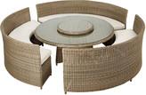 OKA Orseno Outdoor Table Set, Rattan - Off-White