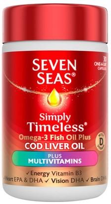 Seven Seas Simply Timeless Cod Liver Oil Plus Multivitamins 30 Capsules