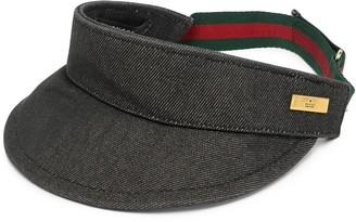 Gucci Pre-Owned Web stripe visor