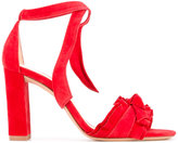 Alexandre Birman ruffle trim sandals
