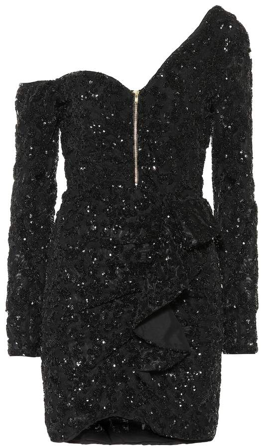 Self-Portrait Self Portrait Sequined minidress