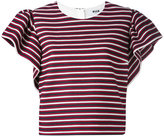 MSGM ruffled sleeve striped blouse - women - Cotton/Polyester/Spandex/Elastane/Polyimide - 42