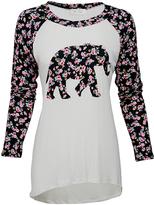 Cream Flower Elephant Top