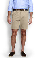 """Lands' End Men's Traditional Fit 9"""" Plain Front Comfort Waist Casual Chino Shorts-Steeple Gray"""