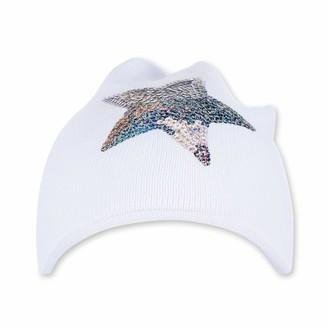 Sterntaler Girls Sequinned-Star Knit Cap Age: 18-24 Months Size: 51 cm