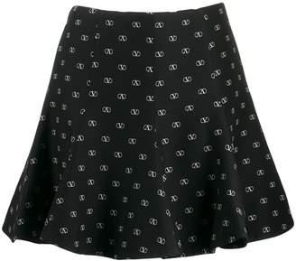 Valentino printed Vlogo mini skirt