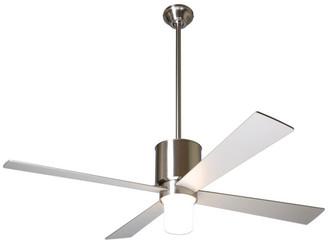 """Modern Fan Lapa 17W LED Fan, Bright Nickel, 50"""" Nickel Blades"""