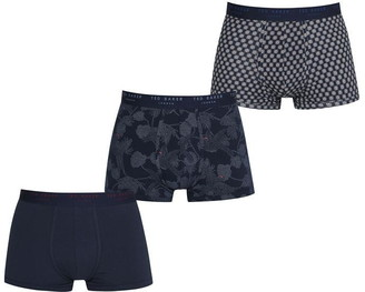 Ted Baker Ted 3pk Pattern Trnk Sn04
