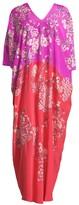 Natori Hana Floral Silk Nightgown
