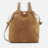 Meli-Melo Women's Hazel Suede Drawstring Bag - Light Tan