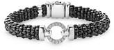 Lagos Black Caviar Ceramic Bracelet with Sterling Silver and Diamonds